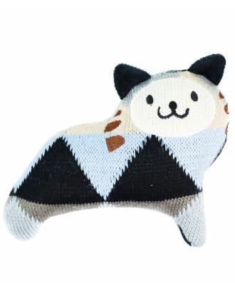 Record Knitted Cat Pedro Dog Toy - piszcząca zabawka dla psa, kot Pedro