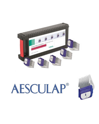 Aesculap Snap-On Attachment Combs - set with storage case