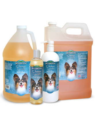 Bio-Groom Protein Lanolin - Tear-Free Sulfate-Free Shampoo for Long-Haired Dogs, 1:4 Concentrate