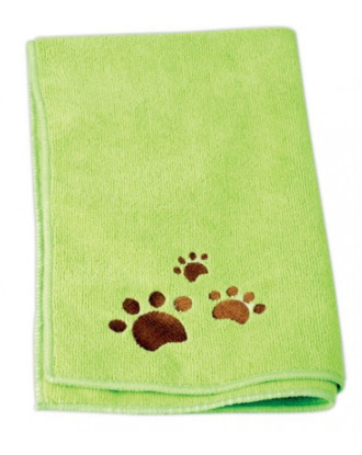 Ręcznik do kąpieli psów 40cm x 60cm mikrofibra, zielony