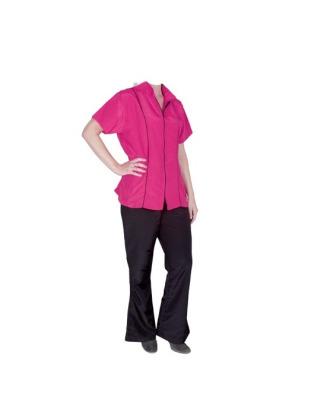 Chadog Angela Pink - bluza groomerska z krótkim rękawem, różowa