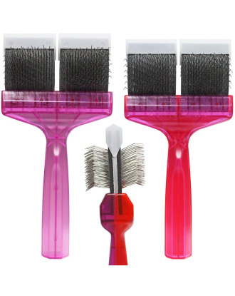 ActiVet Duo Plus Brush Tuffzapper Coater 2in1 - two brushes in one, double-sided and flexible brush for removing knots and combing thick robes with undercoat