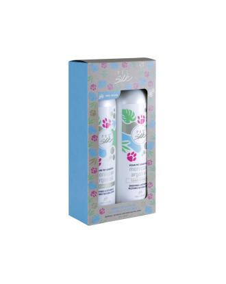 Pet Silk Vegan Moroccan Argan Oil Set 2x473ml - zestaw szampon + odżywka do sierści z olejkiem arganowym, koncentrat 1:16