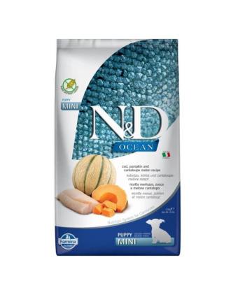 Farmina N&D Ocean Cod Pumpkin & Cantaloupe Puppy Mini - karma dla szczeniąt małych ras, z dorszem, z dynią i melonem