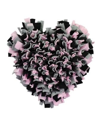 Blovi Snuffle Mat Black/Pink 36x36cm - mata węchowa dla psa w kształcie serca