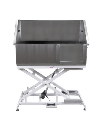 Blovi Professional Stainless Steel Electric Dog Bath - With Front Door & Built-Up Back and Sides