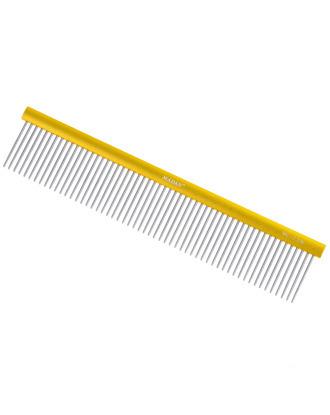 Madan Professional Light Comb 23cm - profesjonalny, duży grzebień z aluminiowym uchwytem i średnim rozstawem ząbków, długie piny 35mm