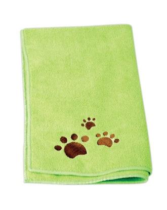 Ręcznik do kąpieli psów 60cm x 100cm mikrofibra, zielony