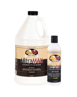 Best Shot Ultra Max Conditioner - profesjonalna odżywka nawilżająca do szaty grubej z podszerstkiem, a także do włosa długiego i lejącego, koncentrat 1:8
