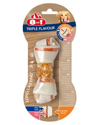 8in1 Triple Flavour Bone - przysmak dla psa, w kształcie kości