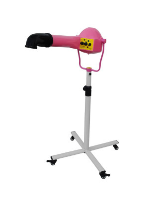 Blovi Pink Elephant 2200W - Strong 2220W Professional Stand Pet Dryer, 80l/s, Pink