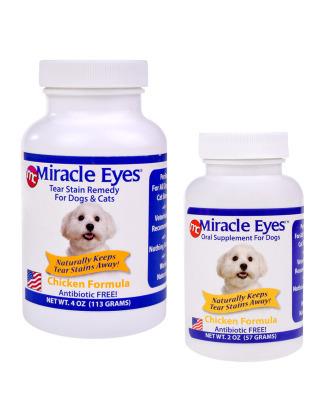 Miracle Eyes Tear Stain Reducer Chicken Formula - naturalny suplement diety likwidujący przebarwienia na sierści i zacieki pod oczami (bez antybiotyku), kurczak