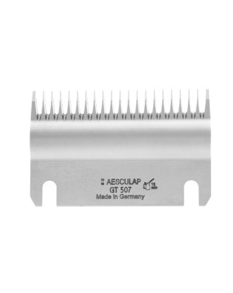 Aesculap Gt507 Lower Cutter Plate For Horse And Cattle Machines  Aesculap, 23 Long Teeth/3mm