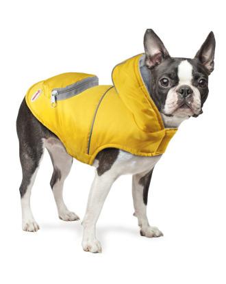 Record Alpine Coat - sportowa kurteczka z kapturem i kieszonką, żółta