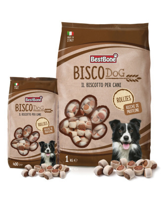 Best Bone Bisco Dog Rollies - smakołyki dla psa w z wołowiną i kurczakiem