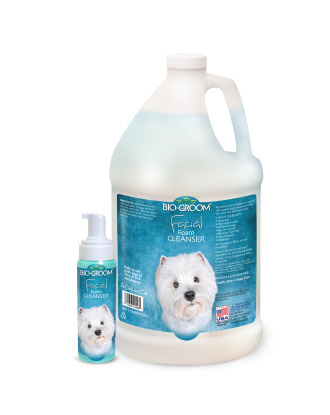 Bio-Groom Facial Foam Cleaner - Hypoallergenic Stain Removal For Cats and Dogs