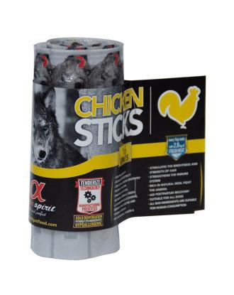Alpha Spirit Chicken Sticks Blister 160g - bezglutenowe, hipoalergiczne pałeczki z kurczakiem, 16szt.