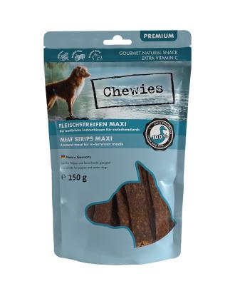 Chewies Meat Strips Maxi 150g - przysmak dla szczeniąt i starszych psów, kaczka