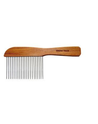 Show Tech solidny, drewniany grzebień dla ras długowłosych