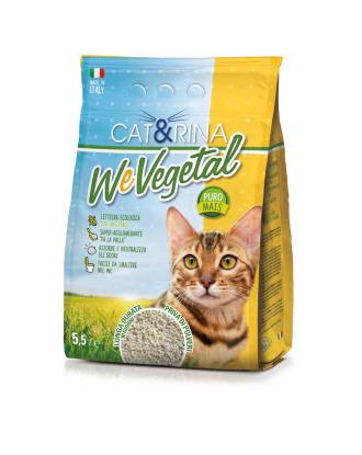 Cat&Rina WeVegetal -  ekologiczny i biodegradowalny żwirek dla kotów, kukurydziany
