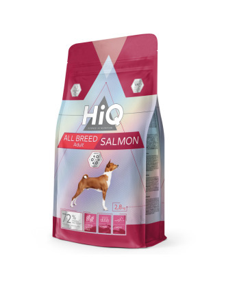 HiQ All Breed Adult Salmon -  pełnowartościowa karma dla dorosłych psów wszystkich ras, z łososiem