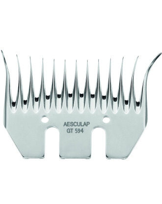 Aesculap GT594  Lower Cutter Plate for Sheep Clippers, 13 Wide Teeth/3,5mm