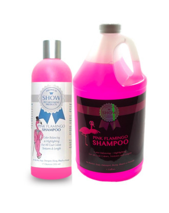 Show Premium Pink Flamingo Shampoo - Color Balancing & Highlighting, for Dogs 1:15 Concentrate