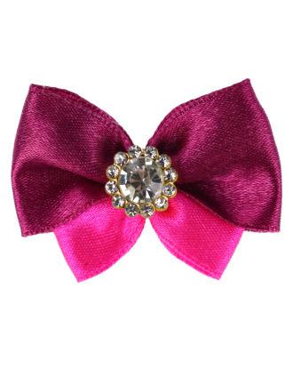 Blovi Bow Glamour satynowa kokardka z ozdobnym kamieniem