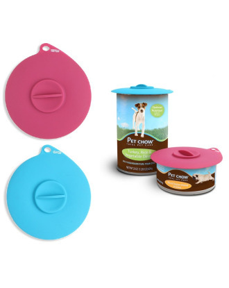 Dexas Flexible Suction Lid - Silicone Cap For Pet Food Cans, Self-Sealing