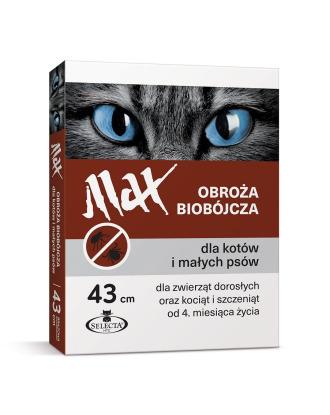 Selecta HTC Max 43cm - obroża biobójcza dla małych psów i kotów, brązowa