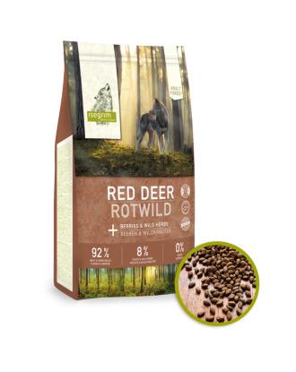 Isegrim Red Deer Berries&Herbs 3kg - sucha karma dla psa, jeleń z drobiem, jagodami i ziołami