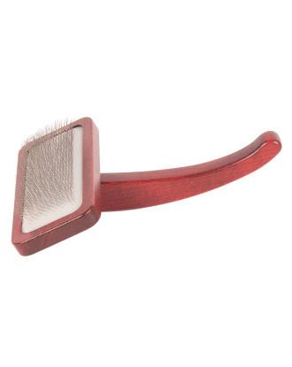 Maxi-Pin Slicker Brush Large - duża, solidna szczotka pudlówka z wygodną rękojeścią, wykonana z drewna bukowego