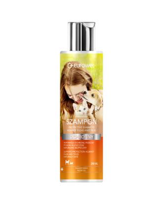 Eurowet Kolor & Pielęgnacja Flea and Tick Shampoo 200ml - szampon ochronny z olejkiem neem przeciw pchłom i kleszczom