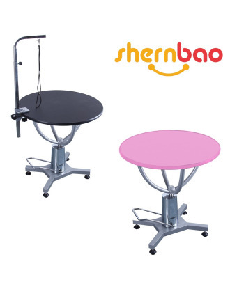 Shernbao Round Hydraulic Table - With Rotating Top 70 cm