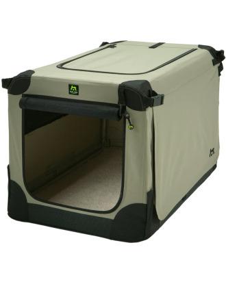 Maelson Soft Dog Kennel - wysokiej jakości materiałowy transporter dla psa, beżowy