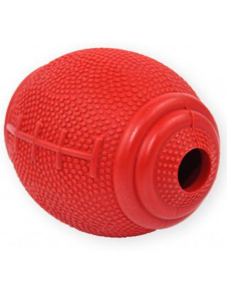 Pet Nova Rugby Snack Ball 8cm - twarda gumowa piłka dla psa, z otworem na przysmaki