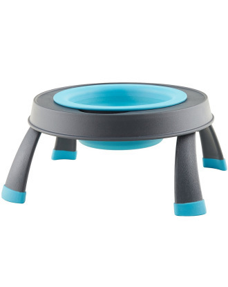 Dexas Popware Collapsible Raised Feeder - Single Dog Bowl with Stand