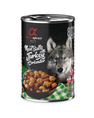 Alpha Spirit Meat Balls with Turkey & Coriander 400g - mięsne klopsiki z indykiem i kolendrą