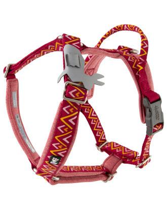 Hurtta Razzle-Dazzle Y-Harness Beetroot - regulowane szelki typu guard dla psów