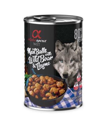 Alpha Spirit Meat Balls Wild Boar & Thyme 400g - mięsne klopsiki z dzikiem i tymiankiem